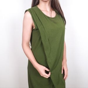 J. Crew Factory • Olive Green Envelop Shift Dress